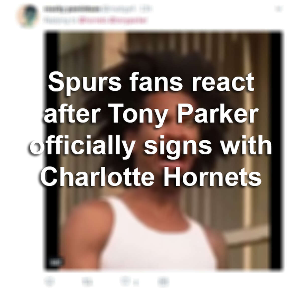 Weeks after ex-Spurs star Tony Parker agreed to a two-year contract with the Charlotte Hornets, San Antonians are still reeling from the loss. Click ahead to see what fans had to say after the Hornets made it official with Parker.