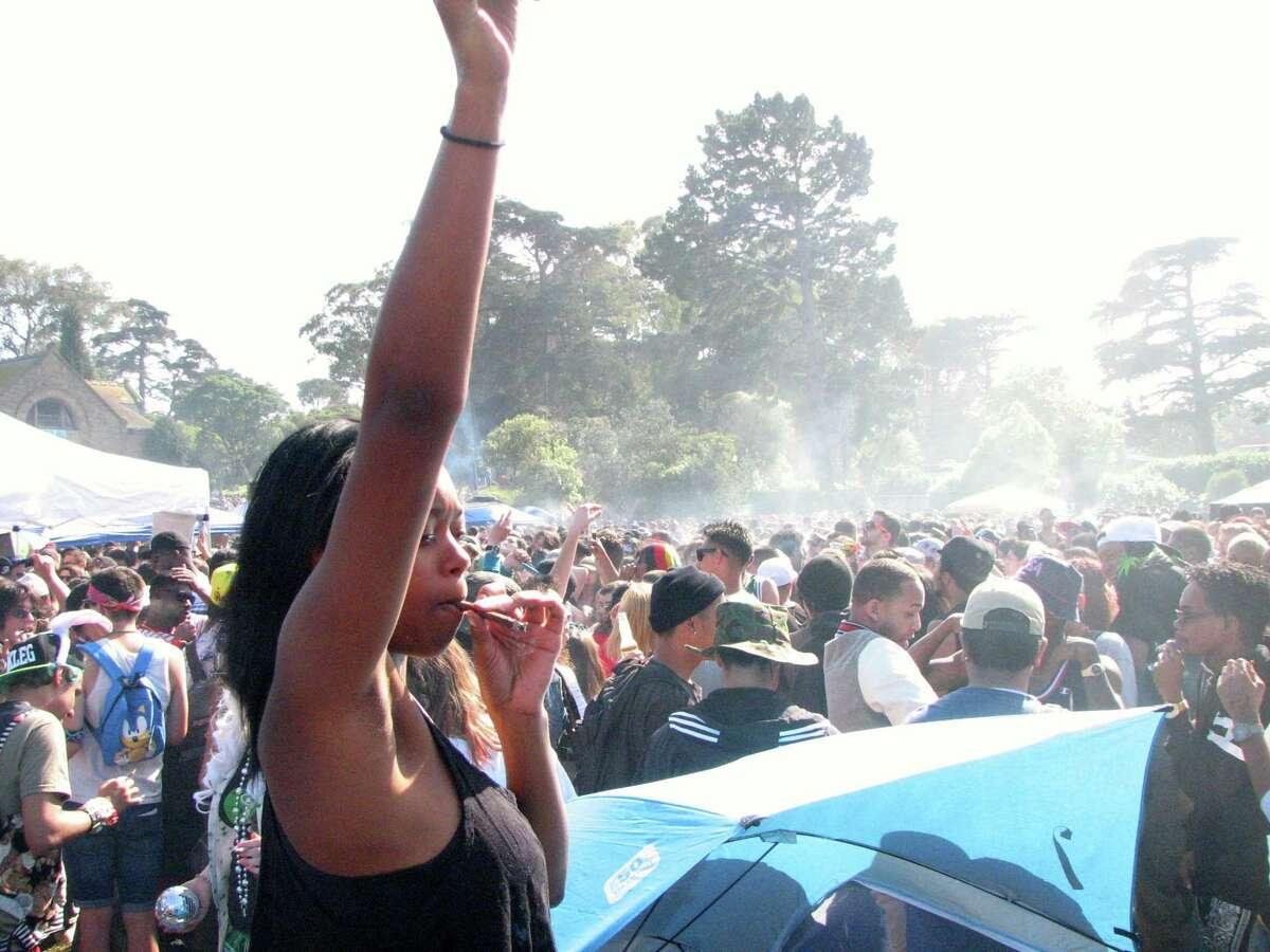 San Francisco 420 marijuana event Hippie Hill