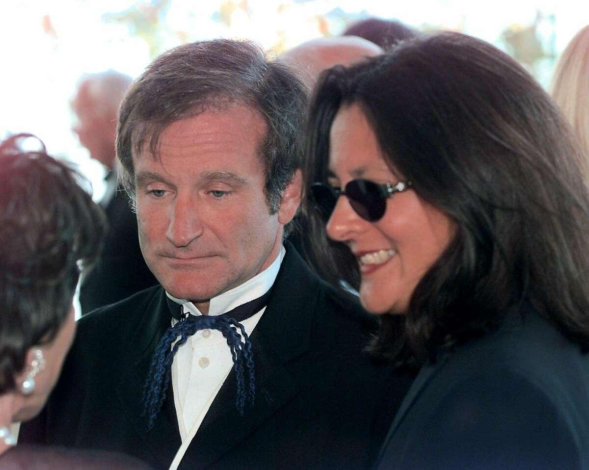 Robin Williams and Marsha Garces Williams in 1998