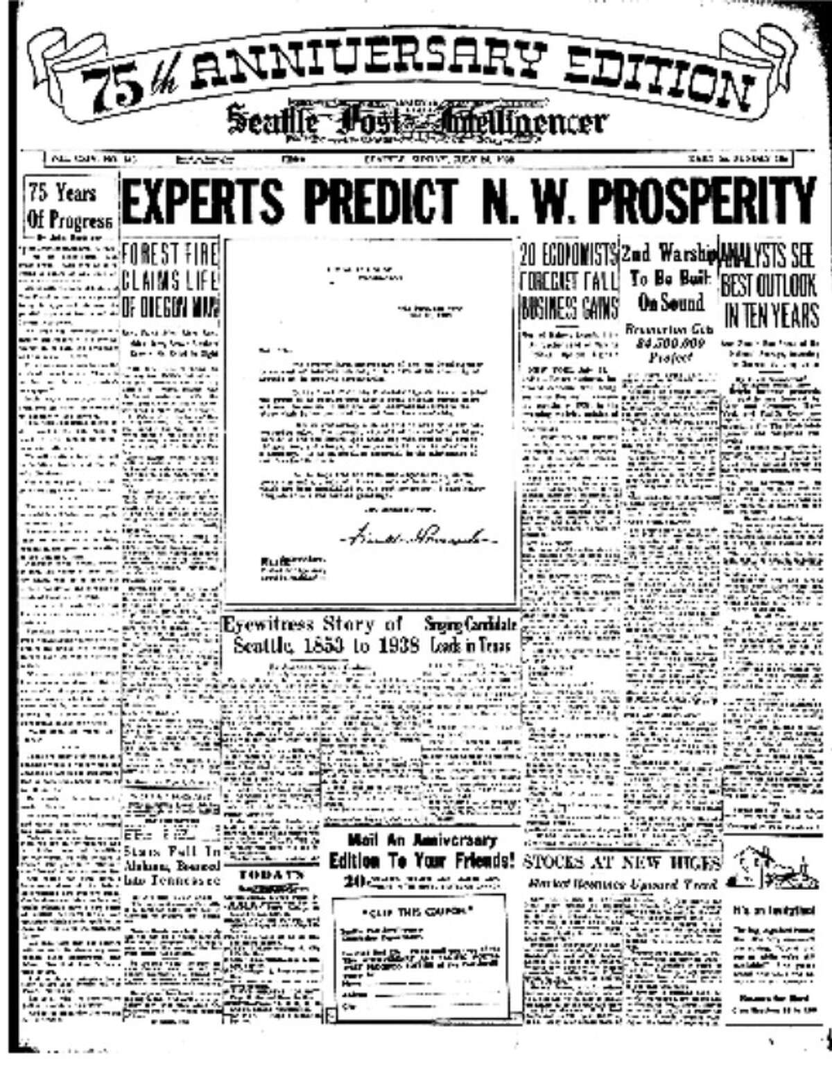 Seattle Post-Intelligencer, July 24th, 1938