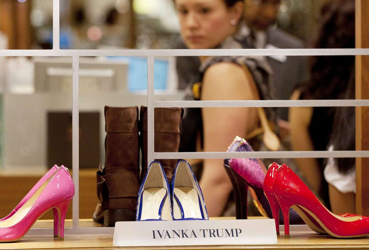 In this Aug. 23, 2012, photo, shoes from the Ivanka Trump collection are displayed at a Lord & Taylor department store in New York. Trump just announced that she'll be shuttering her namesake fashion brand following sluggish sales and a concerted consumer boycott.