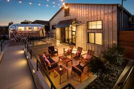 The Butler Hotel is a boutique motel in a former auto garage on Monterey Street in San Luis Obispo.