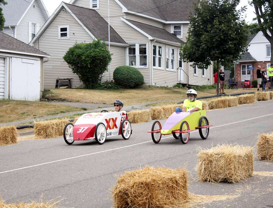 Saturday's Harbor Beach Cart Derby was a hit. Hosted by the Harbor Beach American Legion, the event featured two carts at a time racing down the hill on Trescott Street toward the beach. Photo: Brenda Battel/Huron Daily Tribune