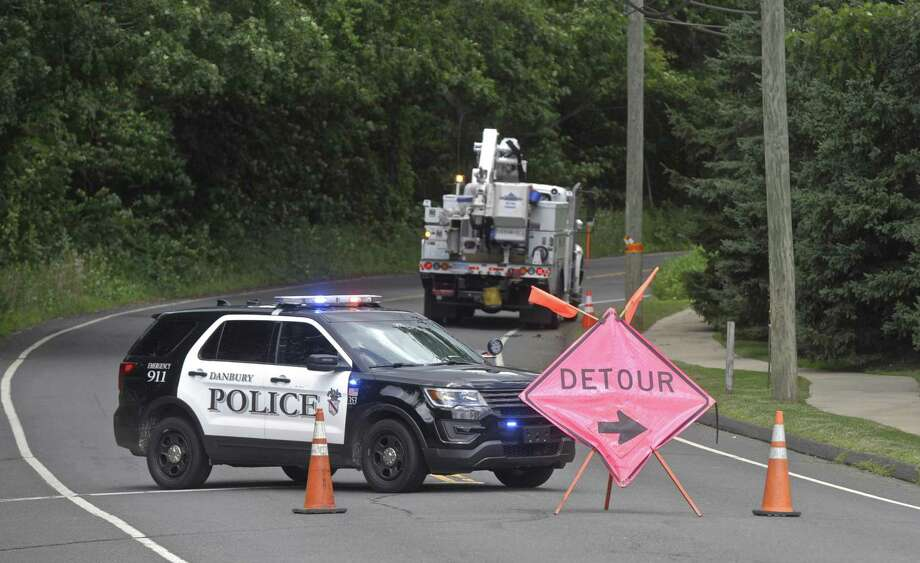 A Padanaram Road traffic accident forced the road to be closed for a number of hours on Tuesday, July 24, 2018, in Danbury, Conn. Photo: H John Voorhees III / Hearst Connecticut Media / The News-Times