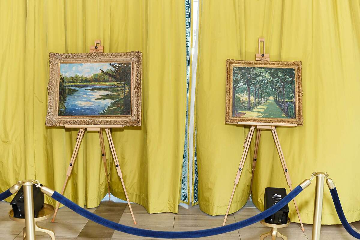The Paintings of Sir Winston Churchill exhibition is currently on display at Heather James Gallery in San Francisco.