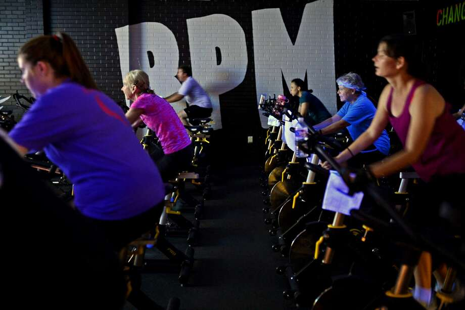 RPM cycling class July 24, 2018, at the Midland YMCA. James Durbin/Reporter-Telegram Photo: James Durbin