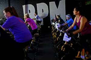 RPM cycling class July 24, 2018, at the Midland YMCA. James Durbin/Reporter-Telegram