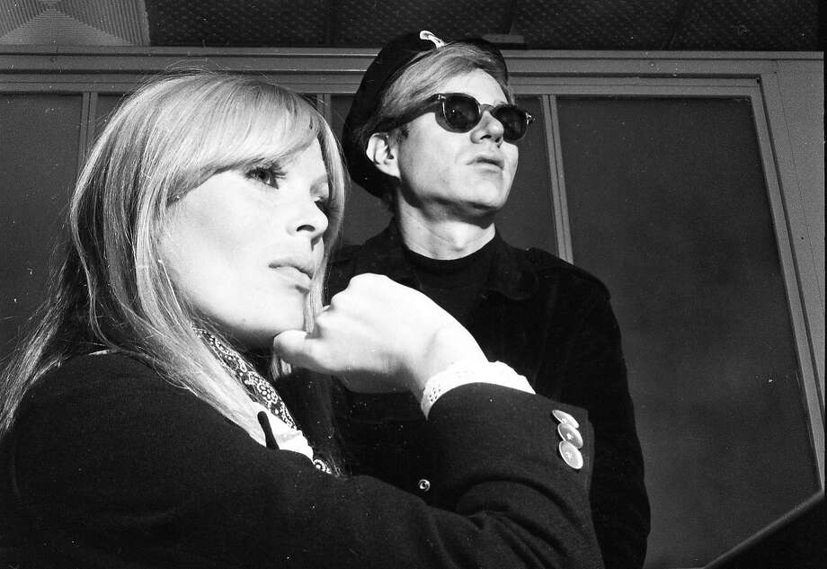 "Singer Nico and artist Andy Warhol visit the Fillmore Auditorium on May 29, 1966, as part of the ""Exploding Plastic Inevitable"" show. Photo: Jerry Telfer / The Chronicle 1966"