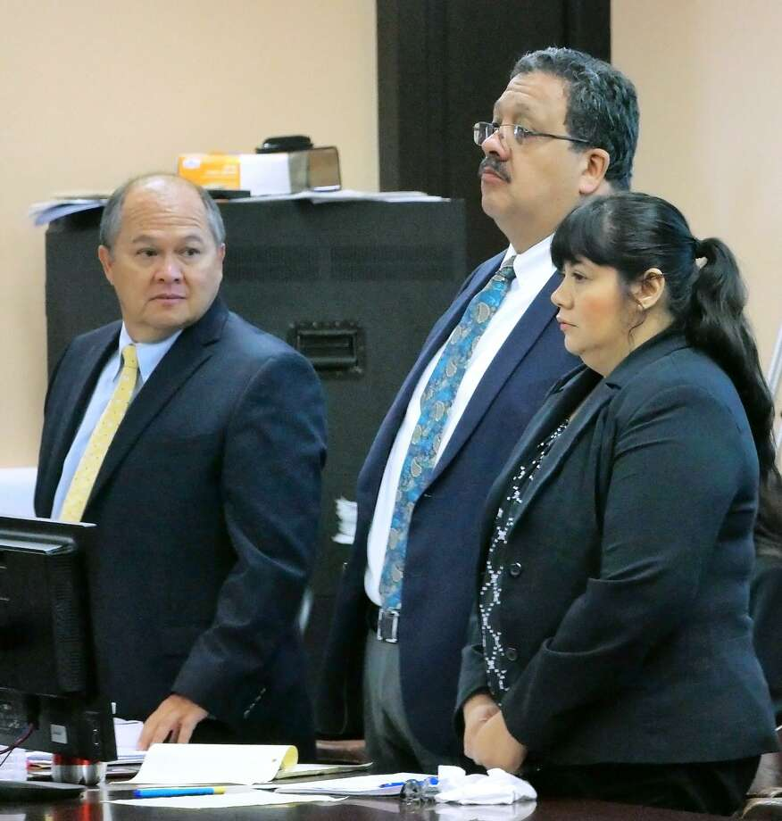 Laura Sánchez-Saldaña pleaded guilty on Tuesday, July 24, 2018 in the 49th District Court to intoxication manslaughter before Judge Joe Lopez. Photo: Cuate Santos /Laredo Morning Times / Laredo Morning Times