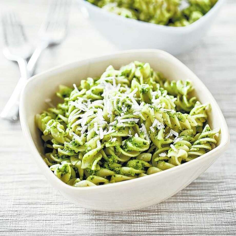 Pesto typically is made with basil and pine nuts, but it can be made from other greens and nuts, including kale and sunflower seeds. Photo:       Carl Tremblay | America's Test Kitchen Via AP