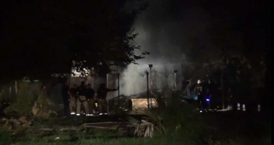 A home on Firnat is a complete loss after a fire on Tuesday, July 24, 2018. Photo: Metro Video