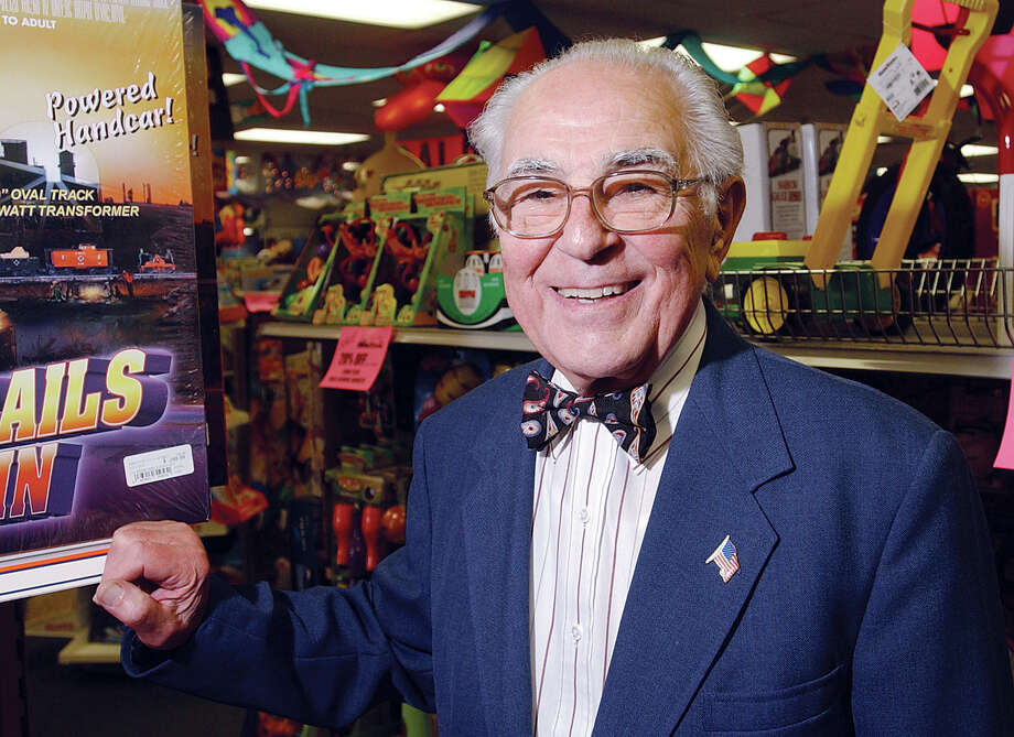 Vincent Amato pictured in his Main Street toy store on Wednesday............TW photo........072804 Photo: Middletown Press File Photo