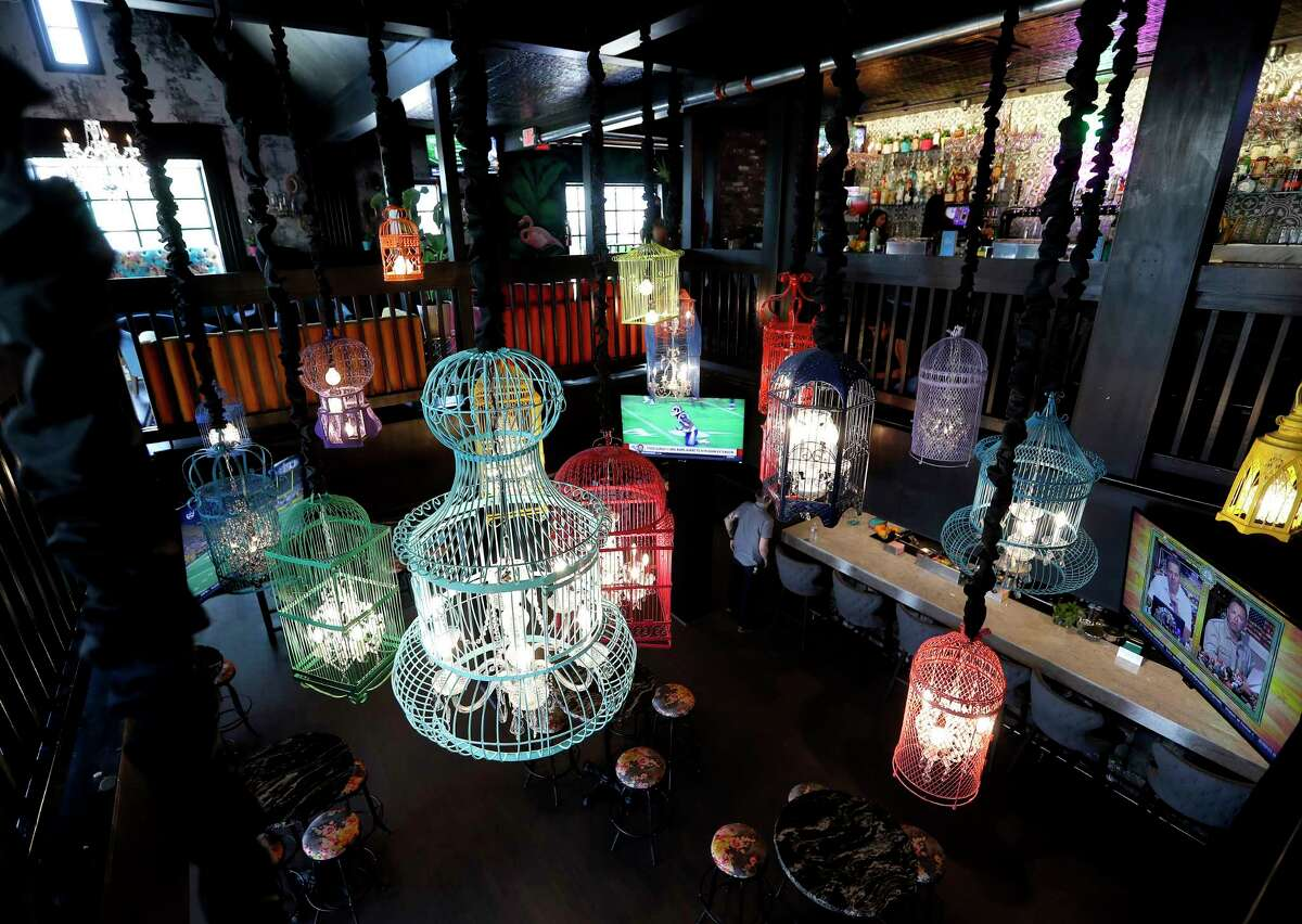 Light fixtures inside of the new Montrose bar, Present Company created by restaurateur Shawn Bermudez, at 1318 Westheimer.