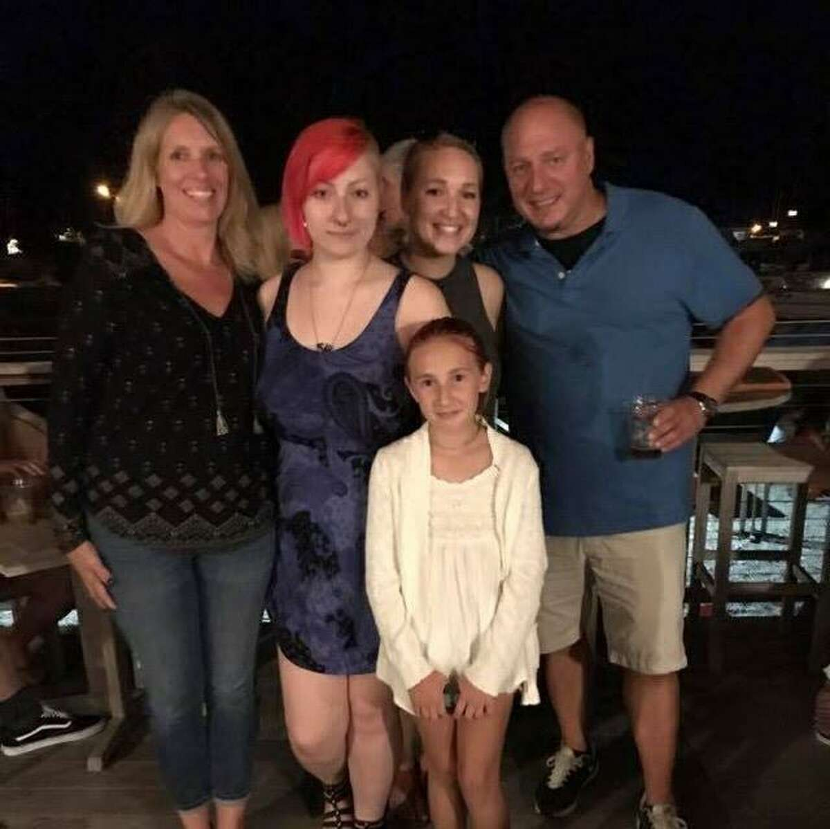 The Wilczynski family. Above, from left, Kristin, Hailey, Sydney (front), Alyssa (back), and Ed Wilczynski.