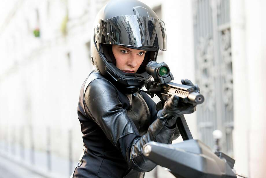 """Rebecca Ferguson in """"Mission: Impossible — Fallout,"""" about a nuclear terror threat. Photo: Chiabella James"""
