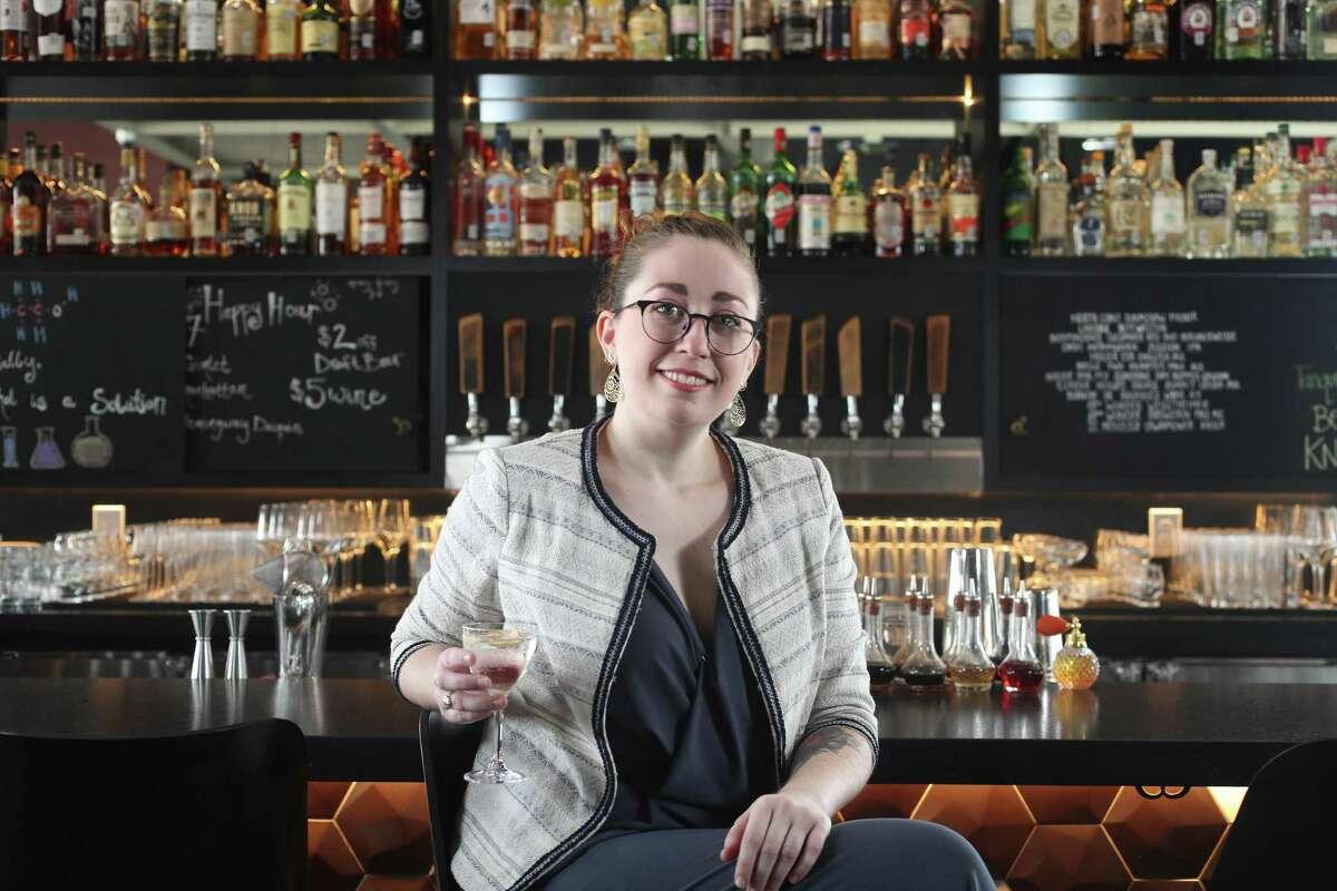 Bartender Sarah Cuneo at Poitin.