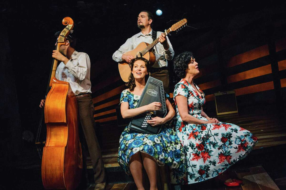 """Morgan Morse, Eric Scott Anthony, Katie Barton and Marcy McGuigan in Stages Repertory Theatre's production of """"Ring of Fire: The Music of Johnny Cash."""""""