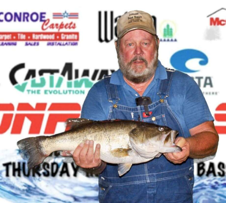 Herman Snoe had the big bass in the CONROEBASS Tuesday Tournament with a weight of 8.99 pounds. Photo: Conroe Bass