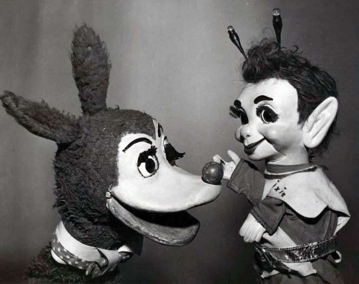 Bertie the Bunyip, left, is remembered from 1960s Philadelphia children's television and tpday is an inspiration for Connecticut artist Leslie Giuliani.