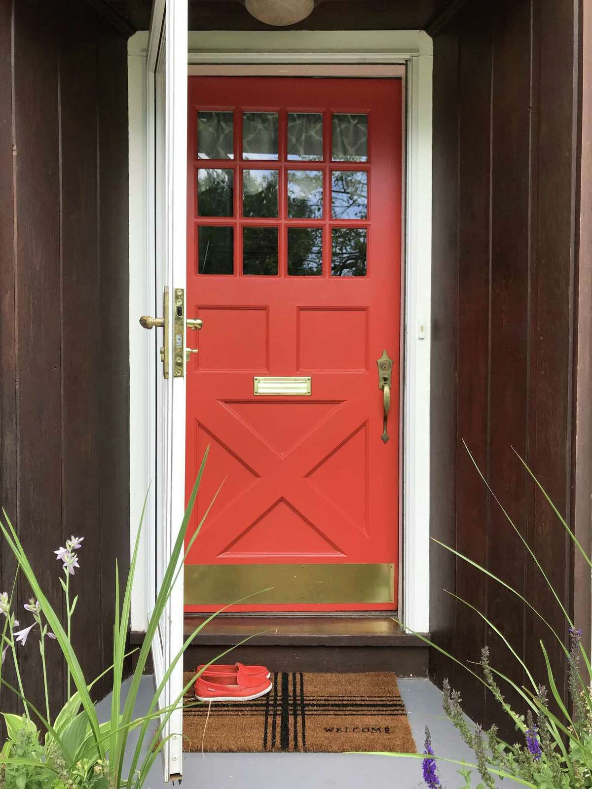 Doors are easy to color swap, and you can switch from moody dark colors to tomato red with ease.