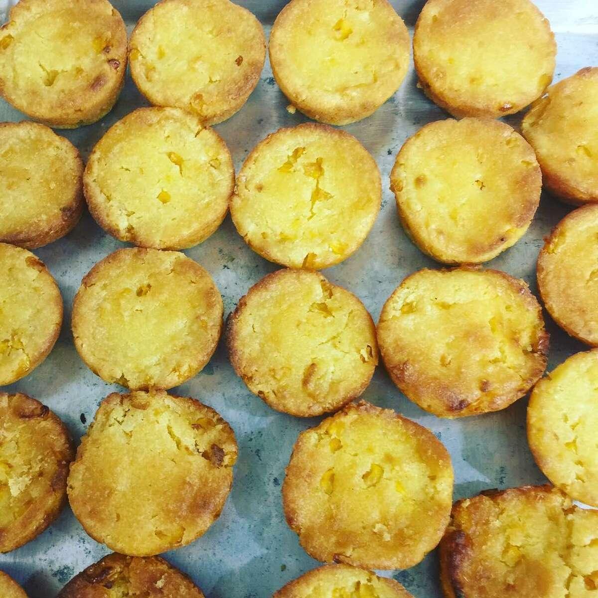 Corn bread at DrewbaQ are like little muffins.