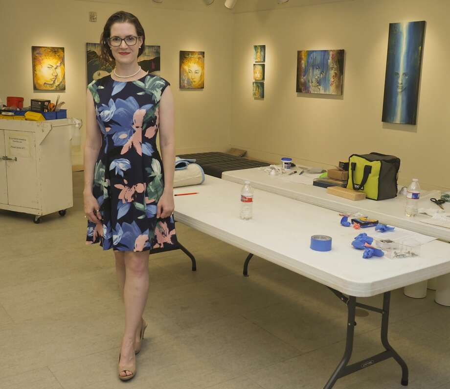Sara Drescher 07/25/18 having her first show at Museum of the Southwest. Tim Fischer/Reporter-Telegram Photo: Tim Fischer/Midland Reporter-Telegram