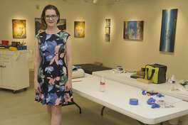 Sara Drescher 07/25/18 having her first show at Museum of the Southwest. Tim Fischer/Reporter-Telegram