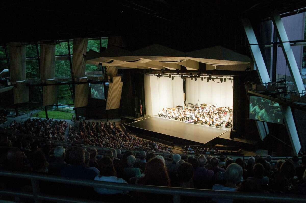 A view of the Philadelphia Orchestra performing at Saratoga Performing Arts Center on Wednesday in Saratoga Springs, N.Y. (Jenn March/Special to the Times Union)