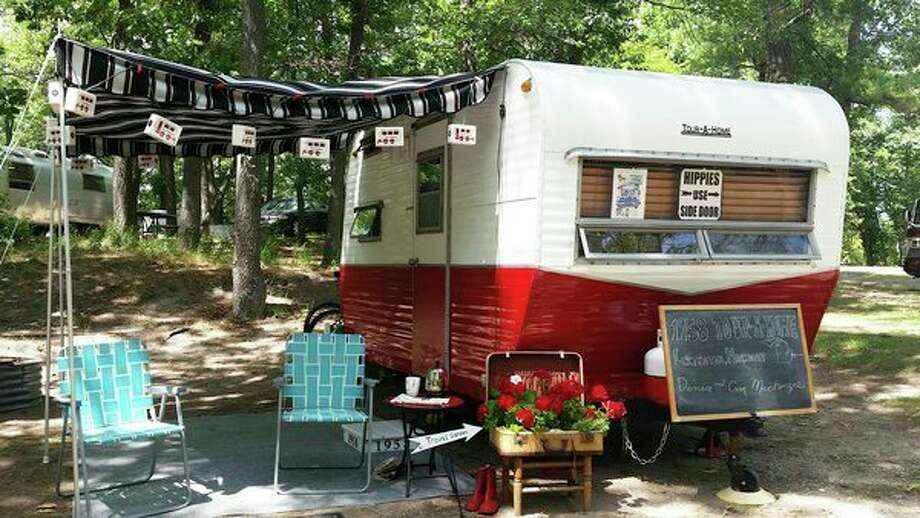 The Tin Can Tourists vintage camper group will be making its 10th consecutive trip to Port Crescent State Park this week. (Courtesy Photo)