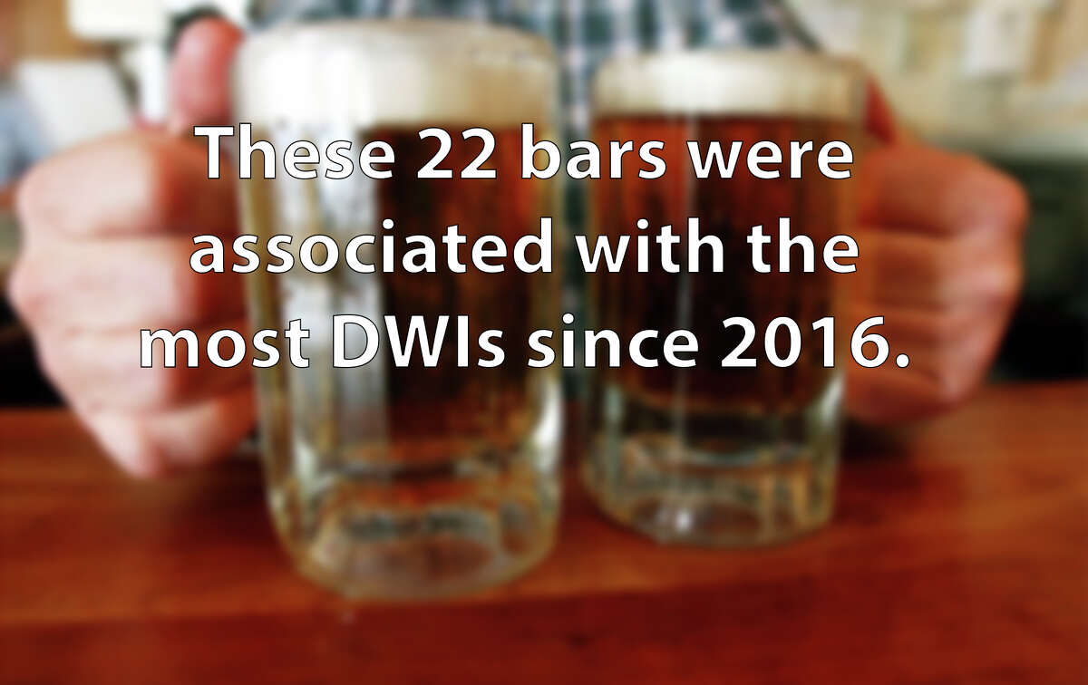 Click through the slideshow to find out which San Antonio establishments were associated with the most DWIs since 2016, according to data obtained from the San Antonio Police Department.