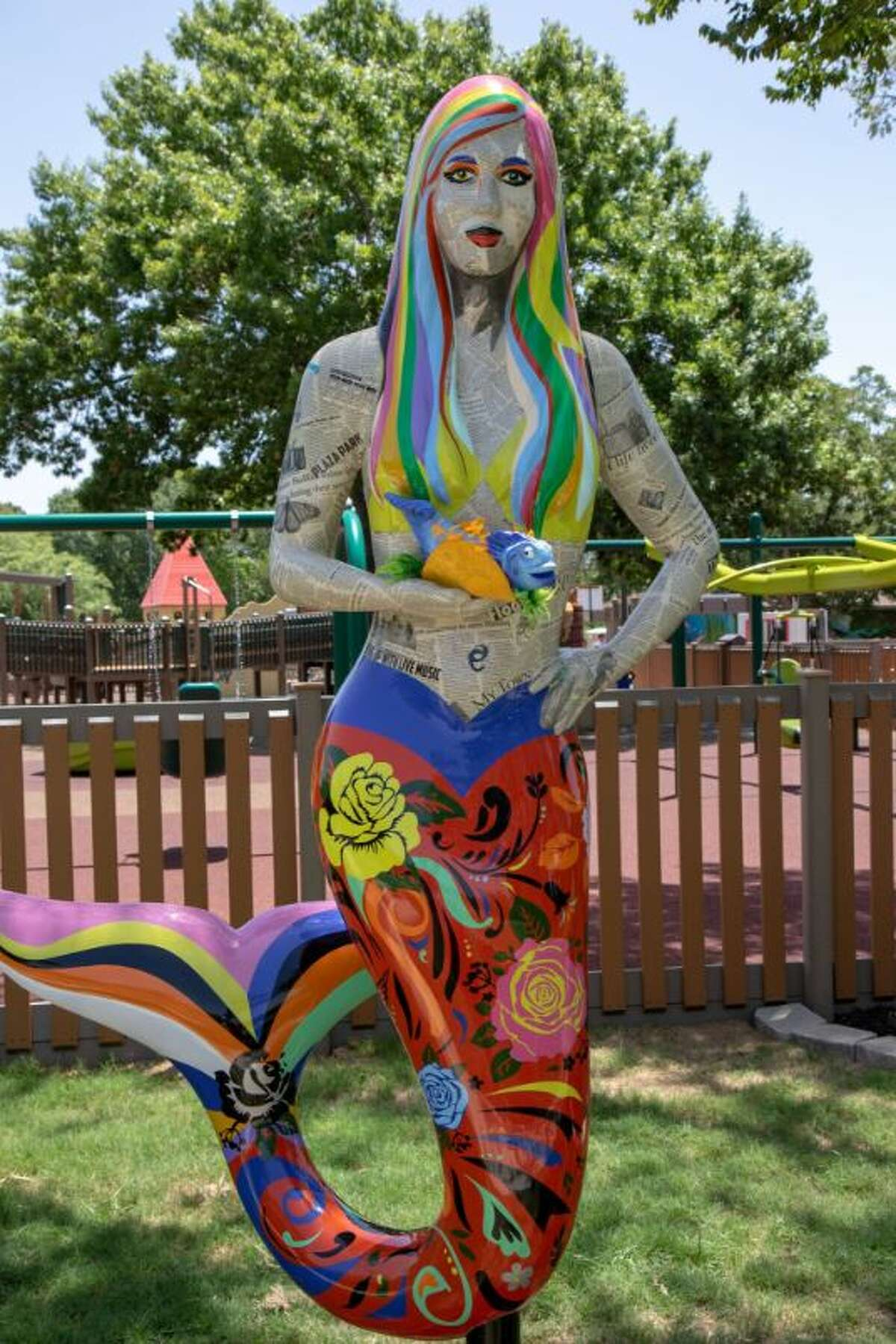San Marcos has installed 10 mermaid statues in a nod to the city's history and an attempt to promote tourism. This is Blooming Brightly.