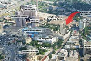 A Dallas developer is drawing up plans for an 18-story Hard Rock Hotel that will loom over Alamo Plaza.