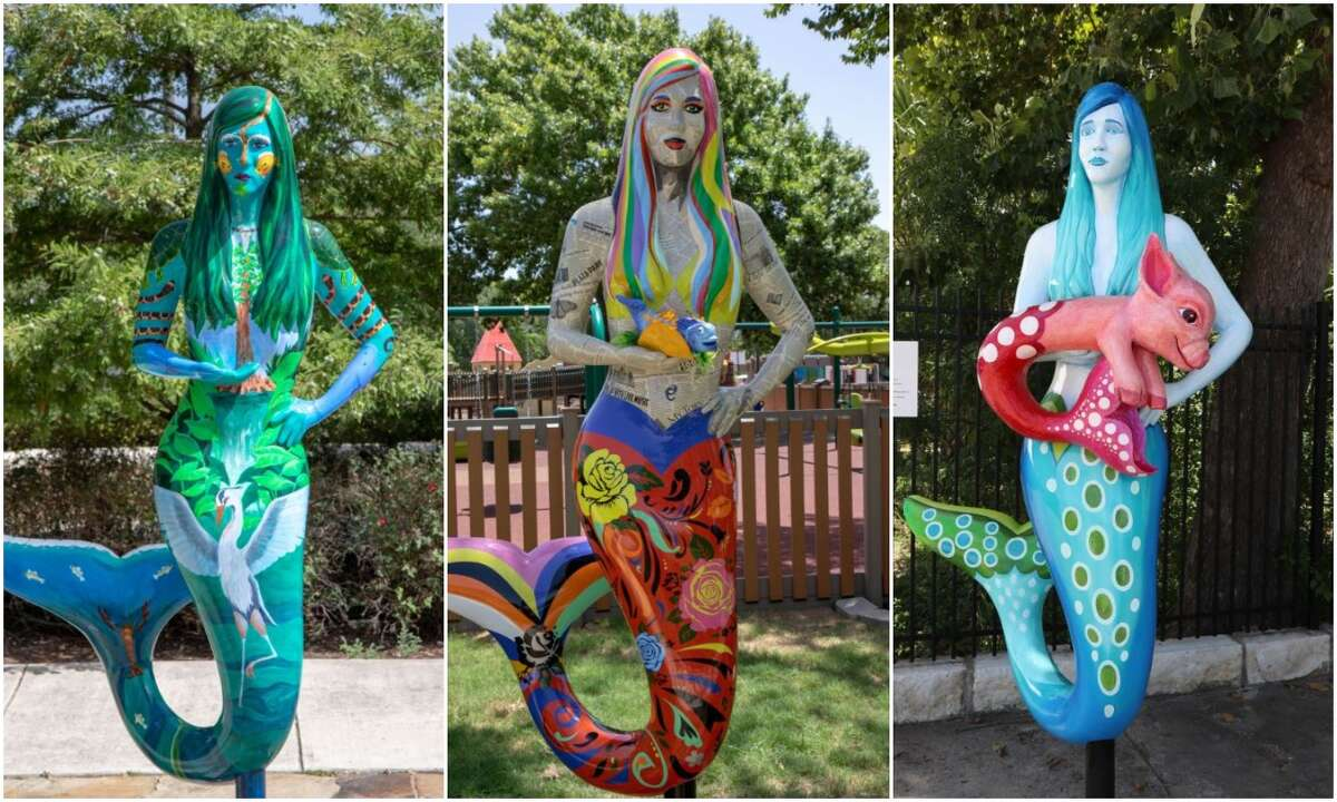 San Marcos has installed 10 mermaid statues in a nod to the city's history and an attempt to promote tourism. Click through the slideshow to see them all.