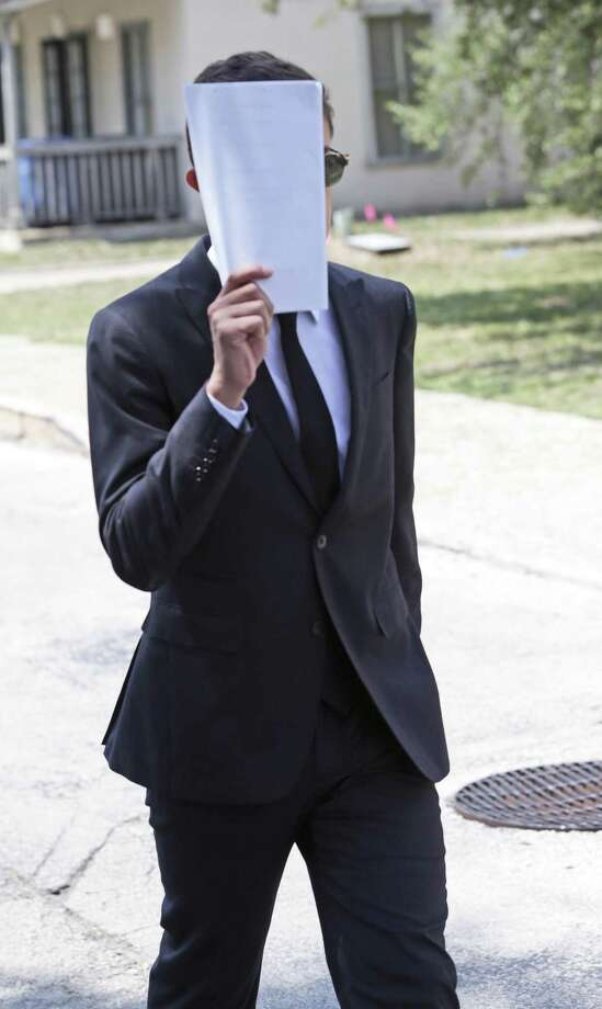 Andres Castaneda leaves  the John H. Wood Federal Courthouse after appearing on July 25, 2018. Photo: Tom Reel, Staff / Staff Photographer / 2017 SAN ANTONIO EXPRESS-NEWS