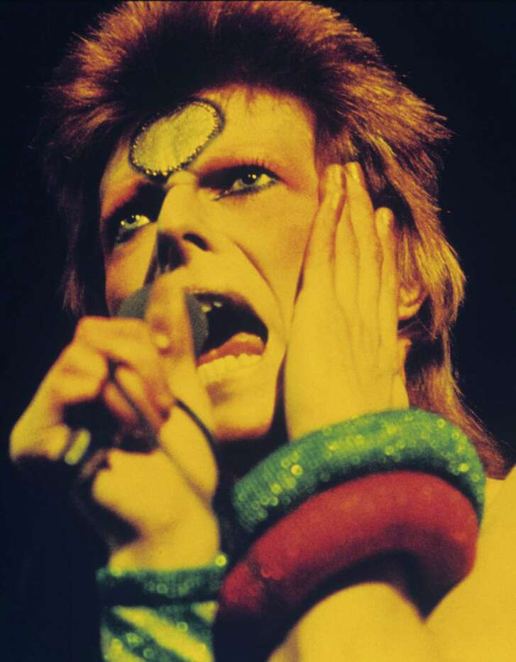 David Bowie on the Ziggy Stardust tour May 12, 1973 in London