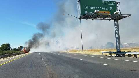 Hwy  99 in Galt reopens after grass fire snarls traffic - SFGate