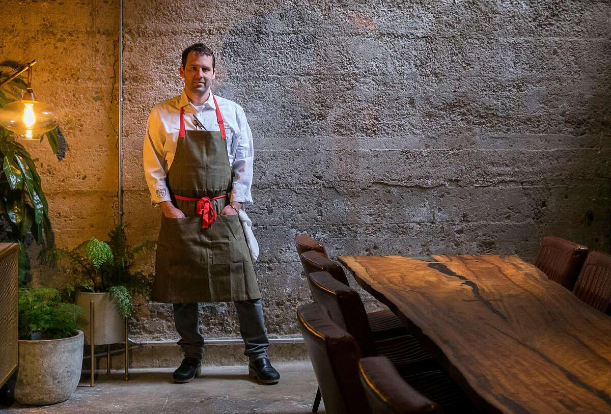 Owner and Head Chef Chris Bleidorn poses for a portrait at Birdsong in the South of Market district of San Francisco, Calif. Tuesday, July 24, 2018.