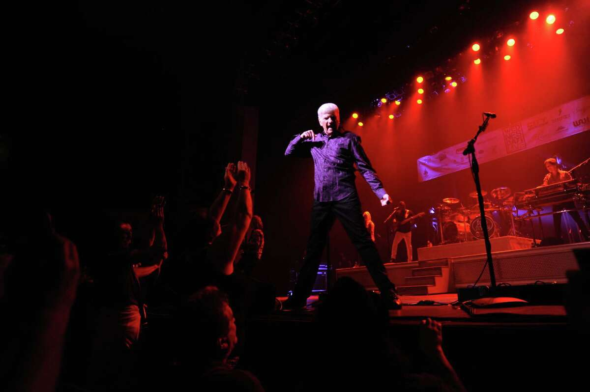 Dennis DeYoung (center) and the music of STYX perform to a raucous crowd during Wednesday Nite Live inside the Palace Theatre on Atlantic St. in downtown Stamford, Conn. on Wednesday, July 25, 2018.