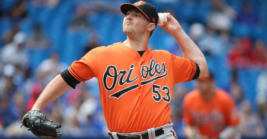 TORONTO, ON - JULY 21: Zach Britton #53 of the Baltimore Orioles delivers a pitch in the eighth inning during MLB game action against the Toronto Blue Jays at Rogers Centre on July 21, 2018 in Toronto, Canada. (Photo by Tom Szczerbowski/Getty Images) Photo: Tom Szczerbowski/Getty Images
