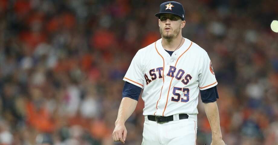 Houston Astros relief pitcher Ken Giles (53) leaves the mound after the top of the eighth inning against Chicago White Sox at Minute Maid Park on  Saturday, July 7, 2018 in Houston.  Astros won the game 12-6. (Elizabeth Conley/Houston Chronicle) Photo: Elizabeth Conley/Houston Chronicle