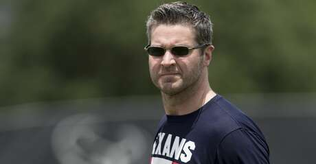 Houston Texans general manager Brian Gaine walks onto the practice field for rookie mini camp at The Methodist Training Center on Friday, May 11, 2018, in Houston. ( Brett Coomer / Houston Chronicle )