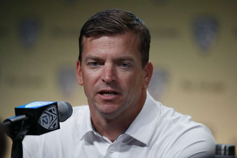 California head coach Justin Wilcox speaks at the Pac-12 Conference NCAA college football Media Day in Los Angeles, Wednesday, July 25, 2018. (AP Photo/Jae C. Hong) Photo: Jae C. Hong / Associated Press