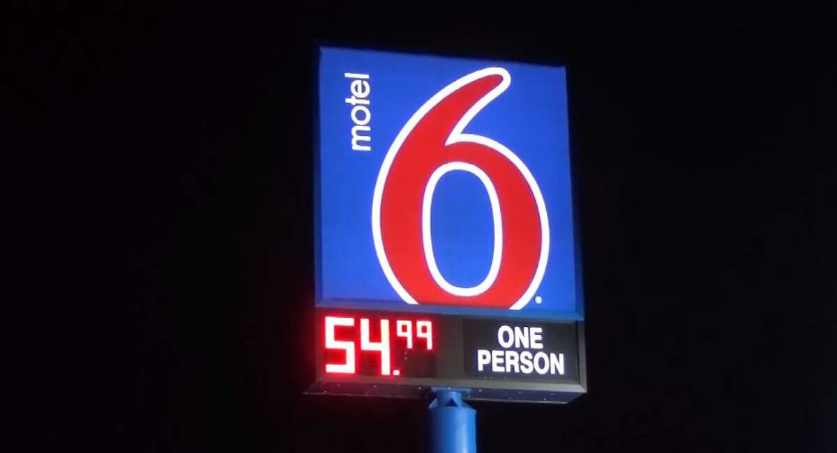 File photo of a Motel 6 sign.