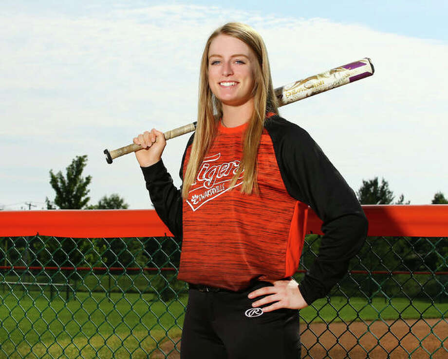 Edwardsville's Anna Burke posted a .533 batting average in a senior season that earns the Tigers shortstop and Missouri S&T recruit recognition as 2018 Telegraph Large-Schools Softball Player of the Year. Photo:       Billy Hurst / For The Telegraph