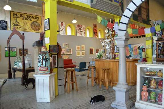 """The diverse collections at Webb Gallery in Waxahachie are united by a common spirit: """"handmade, with a narrative design and a raw, strong presence,"""" according to co-owner Julie Webb."""