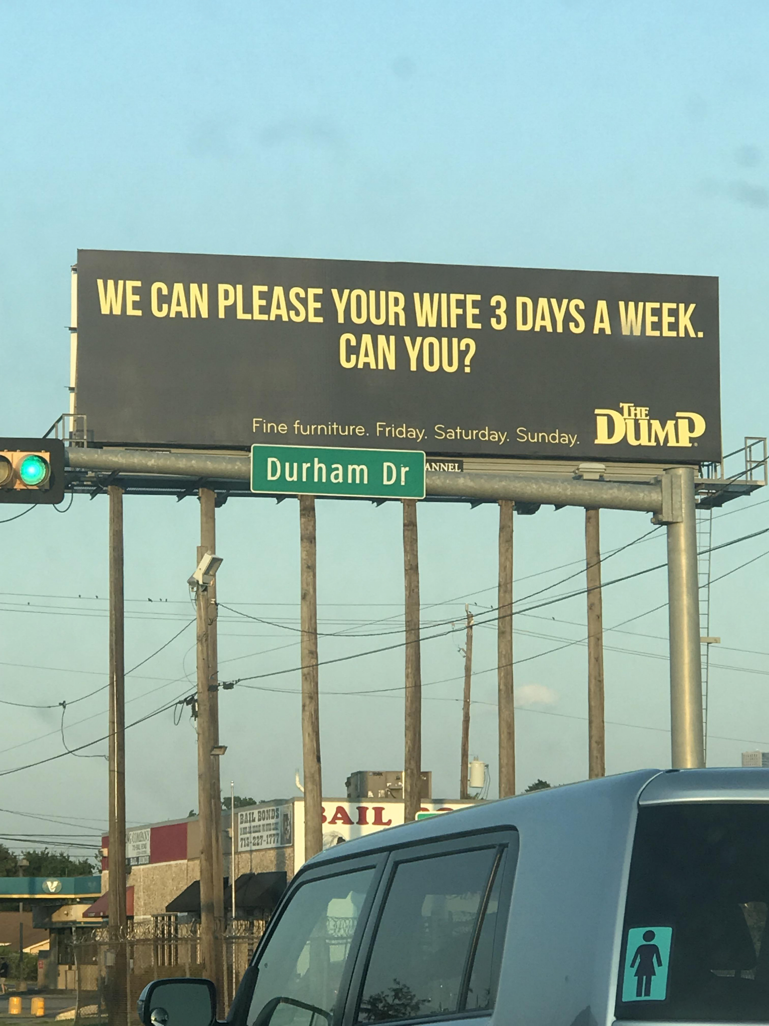 houston furniture store 39 s suggestive billboard causes stir on social media houston chronicle. Black Bedroom Furniture Sets. Home Design Ideas