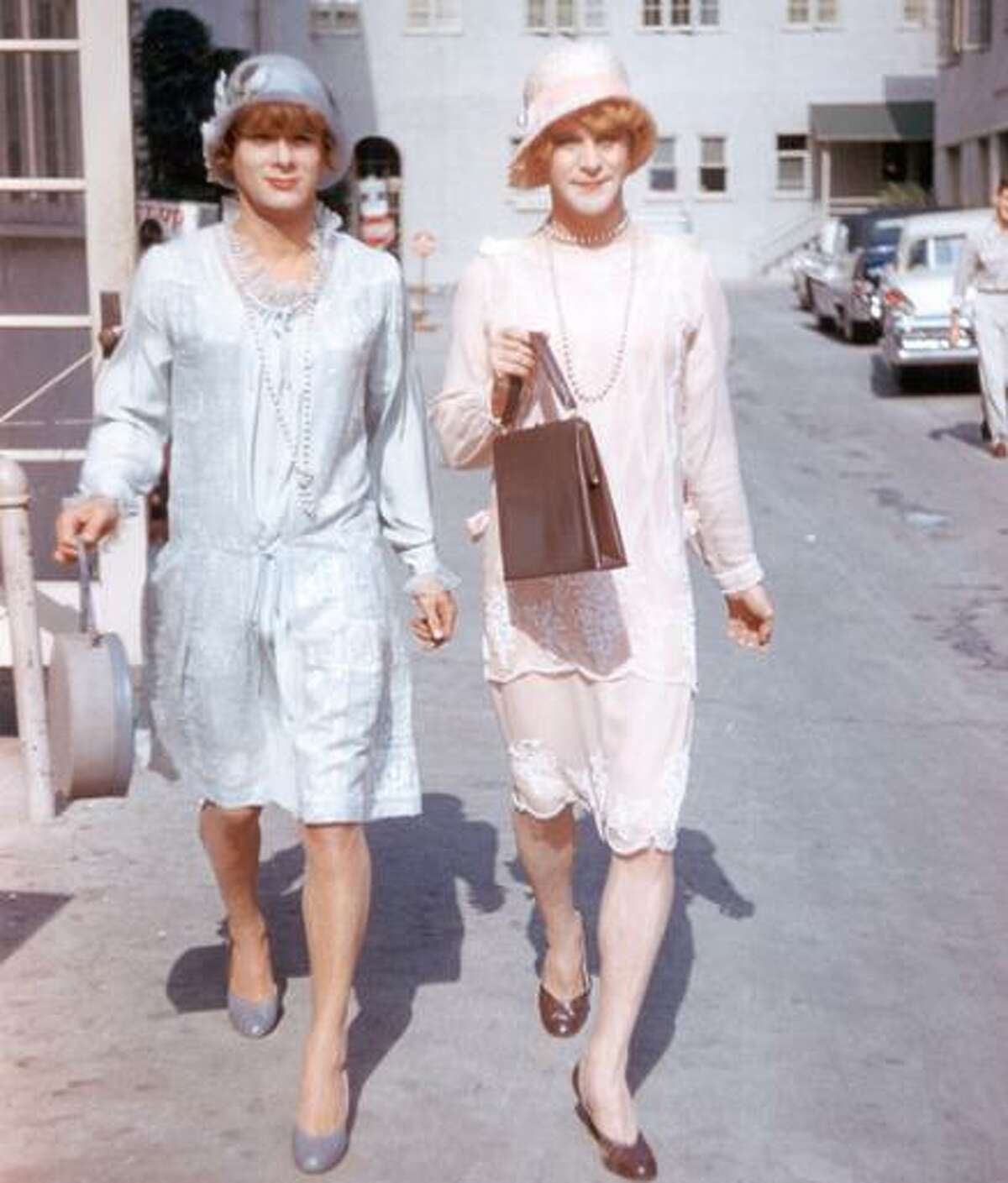 """No code? Tony Curtis (left) and Jack Lemmon in """"Some Like It Hot."""""""