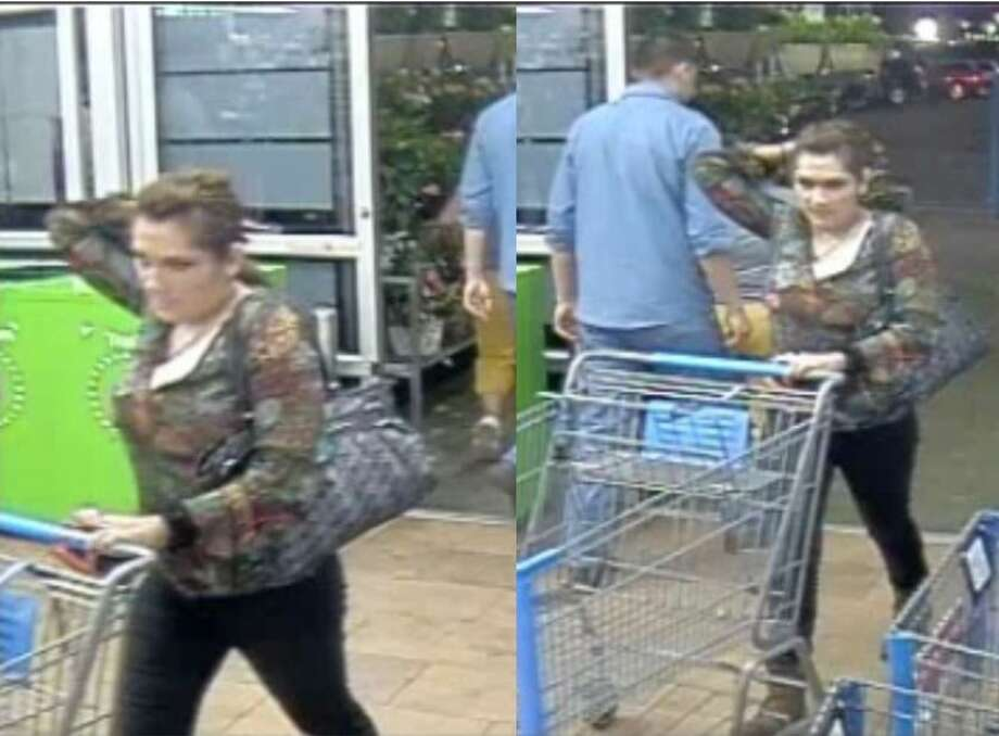 Laredo police said this woman walked into a local Wal-Mart to steal a television, a karaoke machine, a set of pans and a stereo. Photo: Courtesy Photo