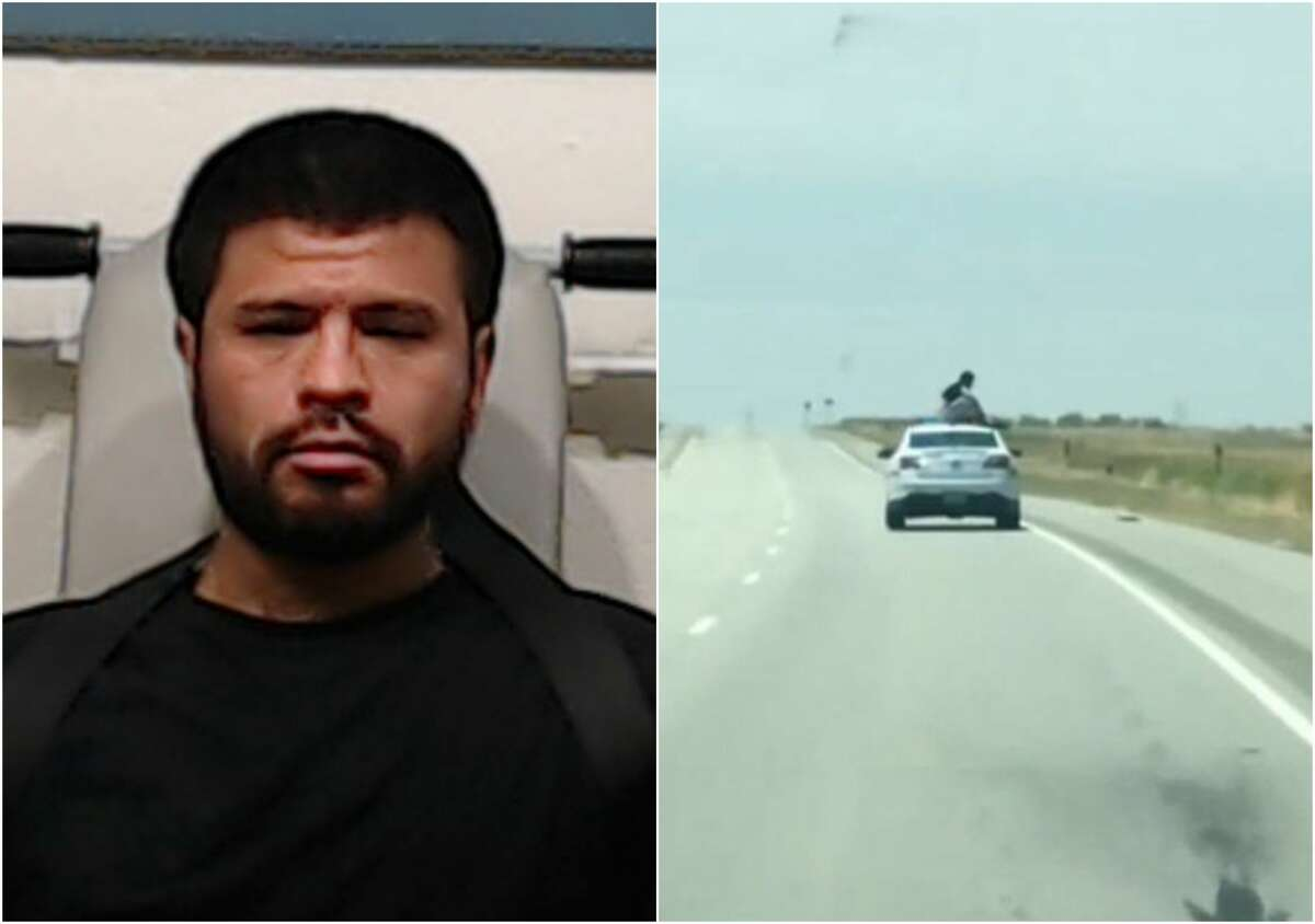 Abilene man, Martin Estrada, 31, was caught on video trying to make a wild escape near Wichita Falls in July 2018 while being transported to Taylor County. READ MORE:Texas inmate scales a moving police car in daring highway escape attempt