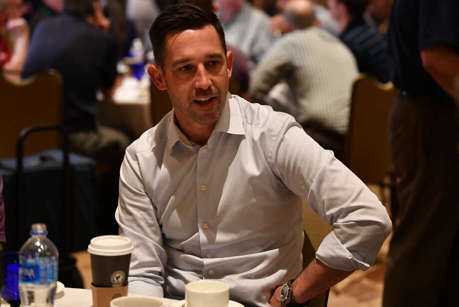 San Francisco 49ers head coach Kyle Shanahan answers questions during the AFC & NFC coaches breakfast at the 2018 NFL Annual Meetings at the Ritz Carlton Orlando, Great Lakes on March 27, 2018 in Orlando, Florida. Photo: (Photo By B51/Mark Brown/Getty Images)